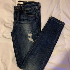 Euninia Dark Wash Skinny Jeans